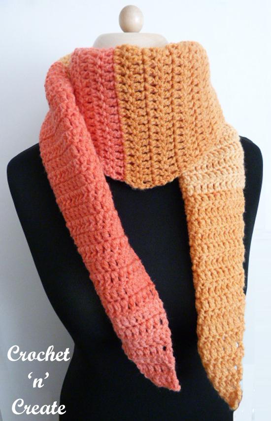 crochet beginners scarf