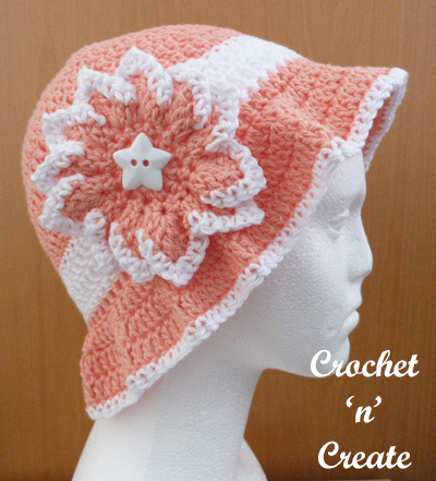 crochet summer sun hats