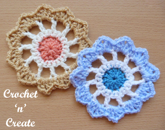 crochet flower wheel