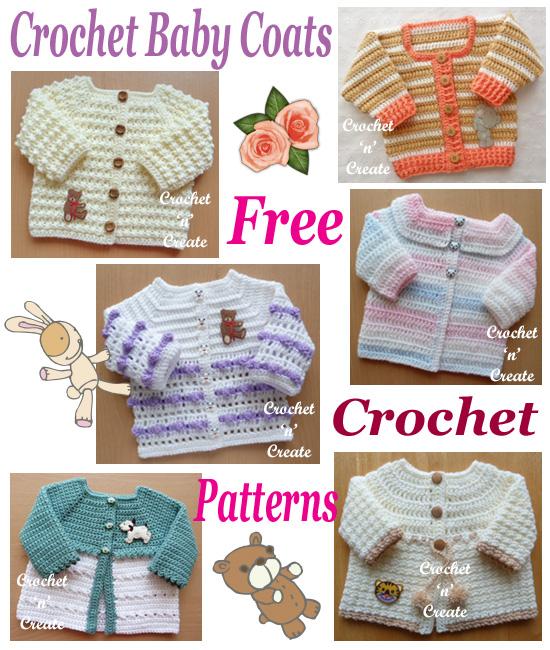 crochet baby coats
