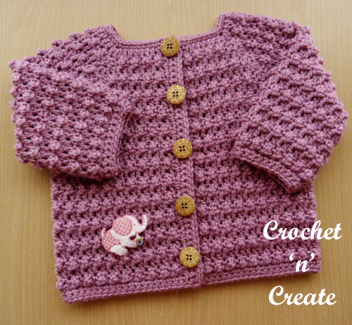 knobbly baby cardi pink