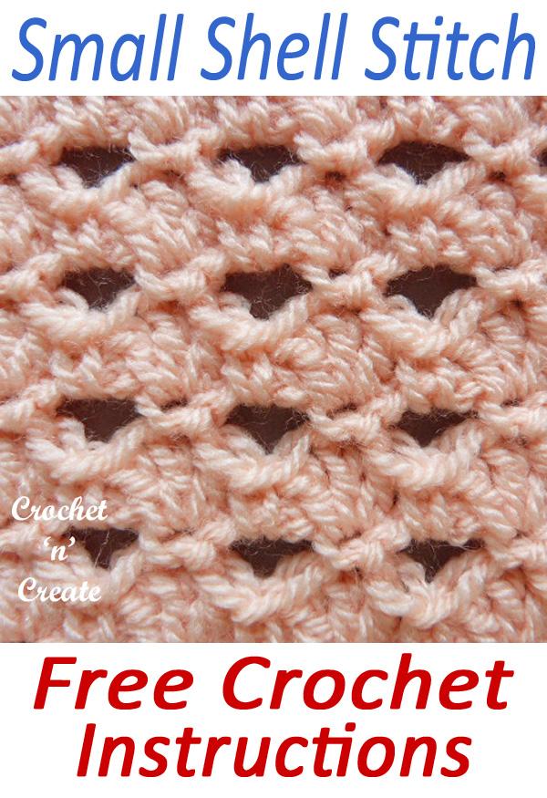 crochet small shell stitch