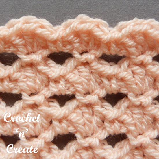 crochet stitch shells