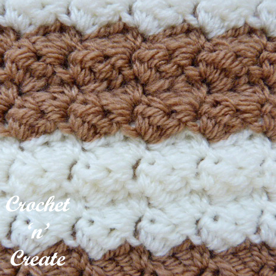 crochet textured combo stitch