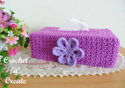 tissue box cover purple