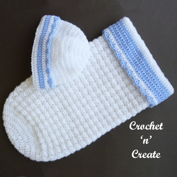 Baby Tommys crochet snooze cozy-hat