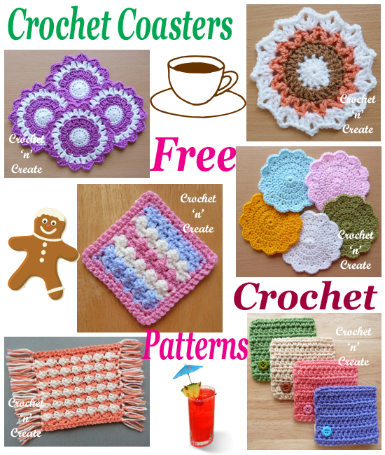 crochet coasters roundup