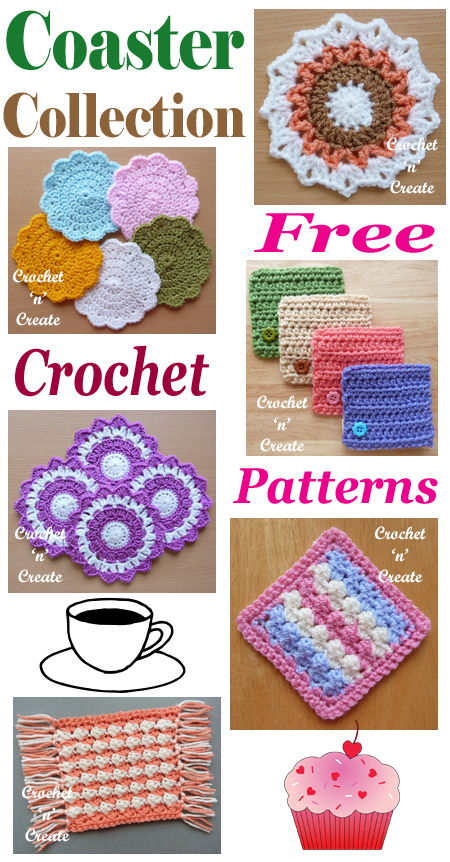 crochet coaster collection