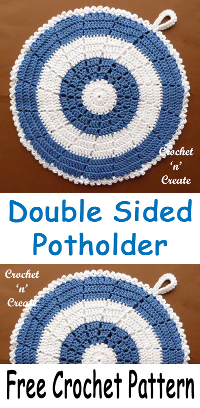 double sided crochet potholder