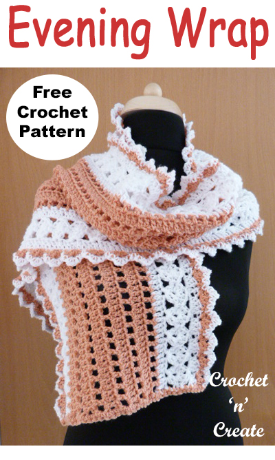 Ladies evening wrap free crochet pattern uk format