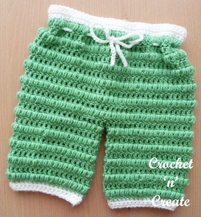 Crochet Boys Puff Stitch Pants Pattern
