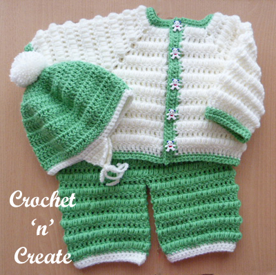 Crochet Baby Boys Outfit