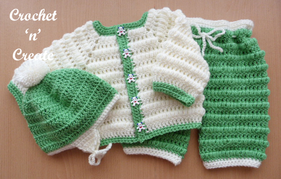 Crochet boys Puff Stitch Outfit