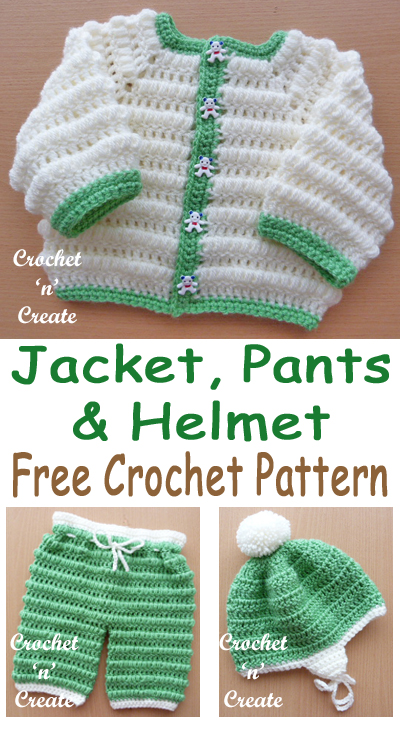 FREE Crochet Boys Puff Stitch Set Pattern