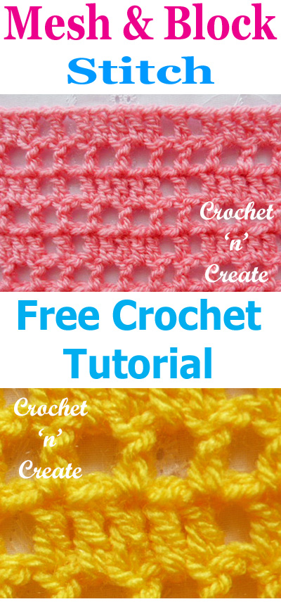 block mesh crochet stitch