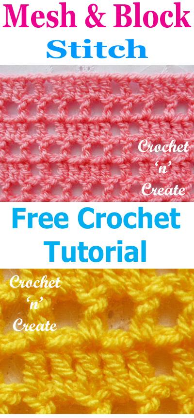 block mesh crochet stitch