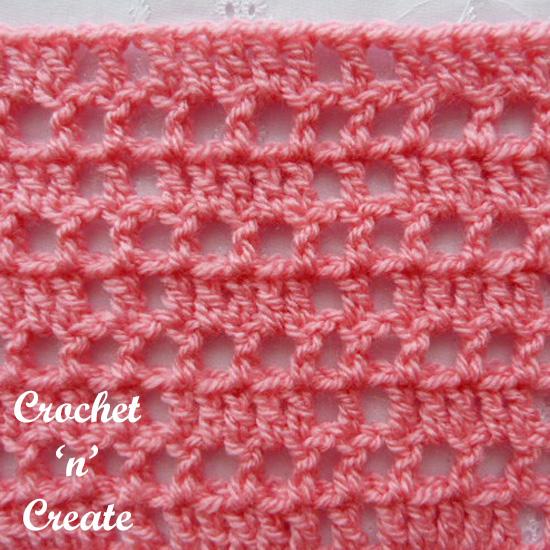 crochet block mesh stitch