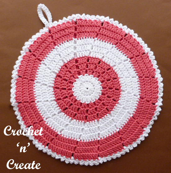 double sided cotton crochet potholder