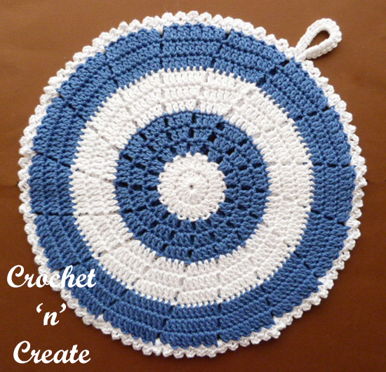 double sided crochet potholder