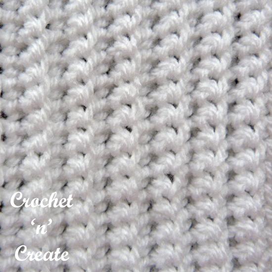 Single Crochet Rib Stitch Free Tutorial Crochet N Create
