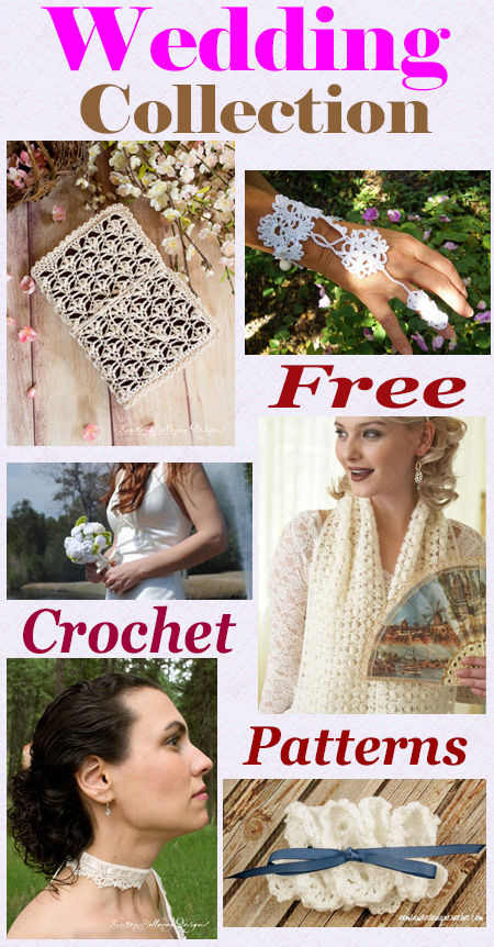 free wedding collection crochet patterns