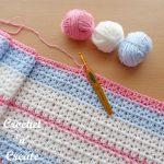 Free Crochet Pattern Butterfly baby blanket