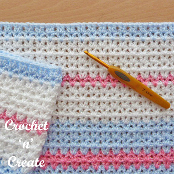 Butterfly baby blanket free crochet pattern UK