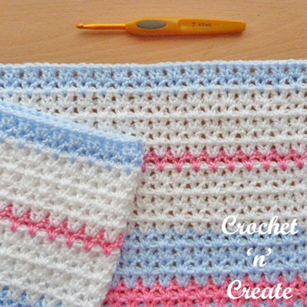 Free Butterfly baby blanket crochet pattern