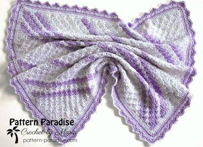 Free Crochet Pattern confetti Baby Blanket
