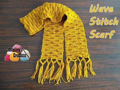 wave stitch scarf