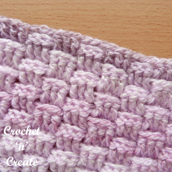crochet basket weave stitch tutorial