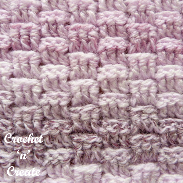 Free crochet stitch tutorial-basket weave stitch