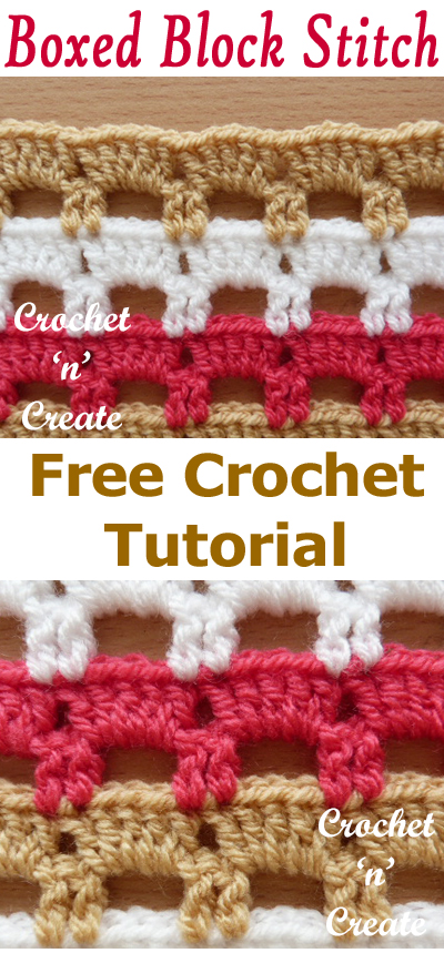 crochet boxed block stitch free tutorial