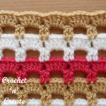 Crochet boxed block stitch tutorial