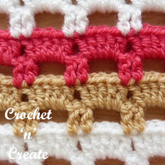boxed block stitch muliti colored