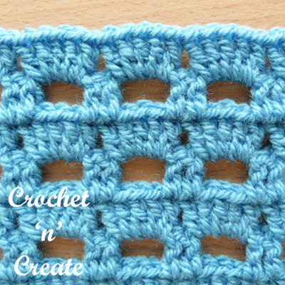crochet boxed block stitch UK