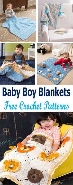 baby boy blanket crochet patterns