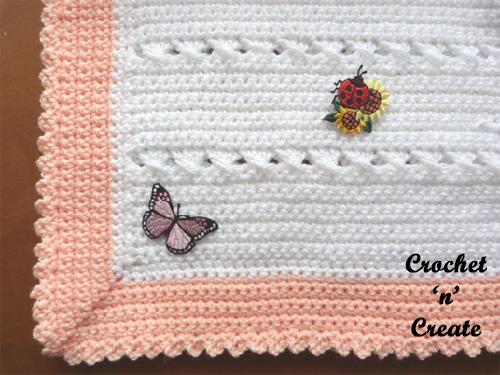 criss cross baby blanket free crochet pattern