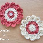 free crochet pattern-crochet flower applique