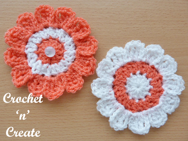 crochet flower applique uk free crochet pattern