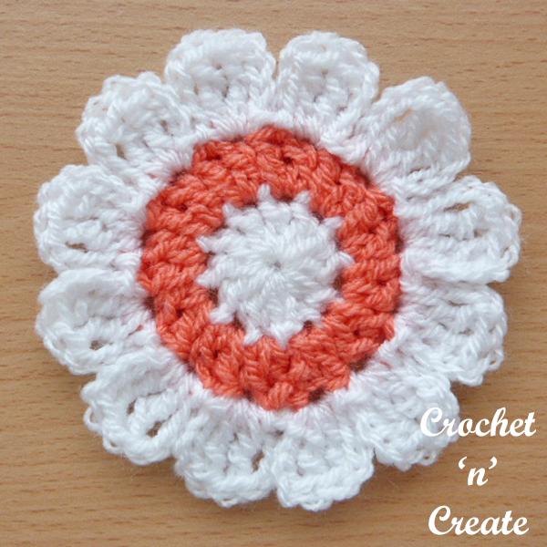 crochet flower applique uk