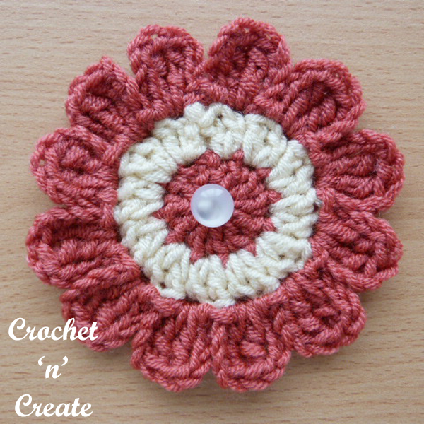 crochet flower applique