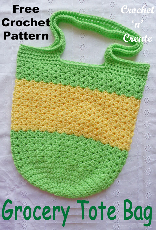 Crochet grocery tote bag FREE UK format crochet Patterns