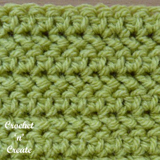 herringbone half double crochet