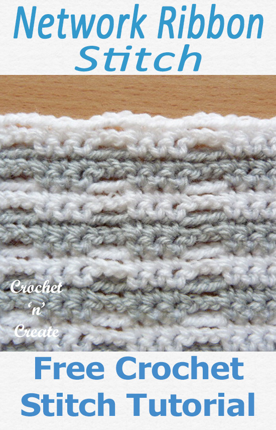 Network Ribbon Free Crochet Tutorial