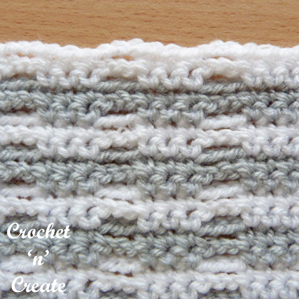 crochet stitch tutorial network ribbon
