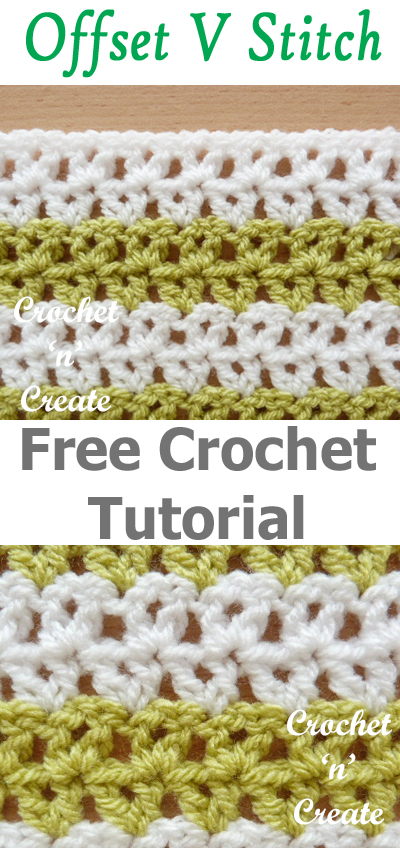 Crochet Offset V Stitch Free Tutorial