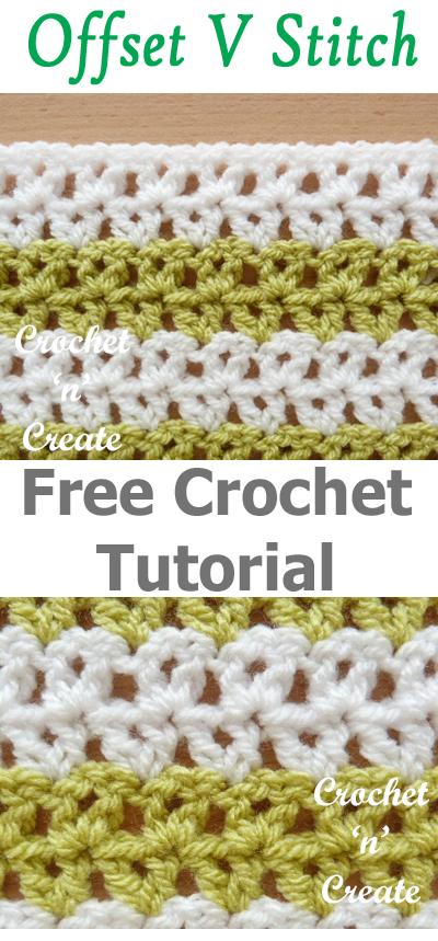 Crochet Offset V Stitch Free Tutorial