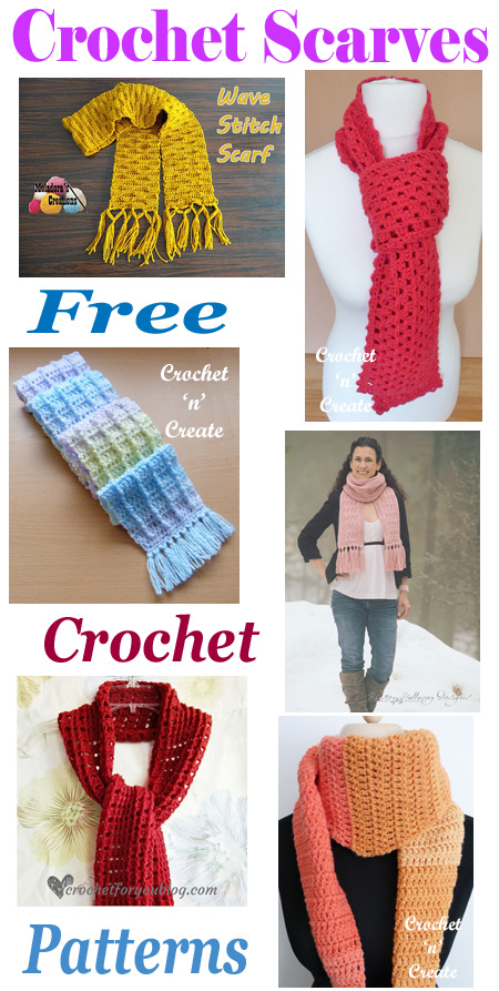 Crochet scarves roundup