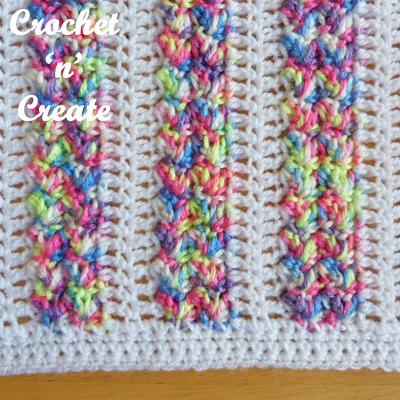 stroller blanket free crochet pattern